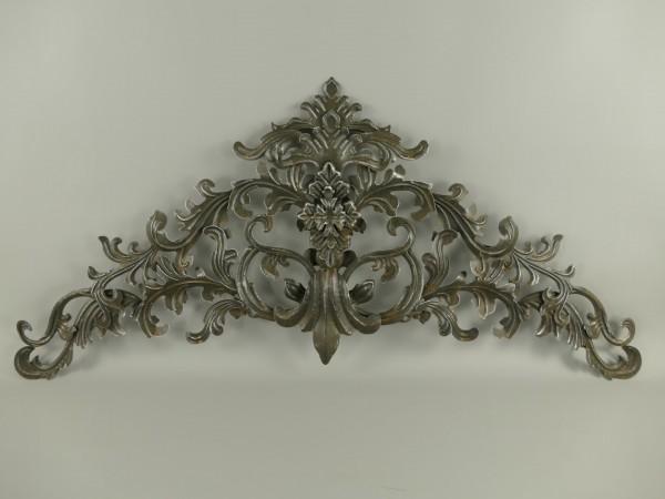 Wand Ornament rustikal Schwarz Grau L.112cm