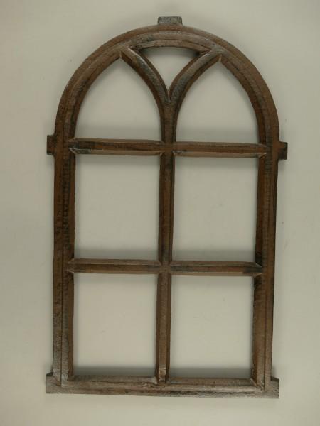 Fenster Gußeisen rustikal braun H.67x42cm