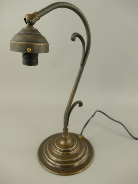 Stehlampe Messing brüniert ohne Schirm H.36cm