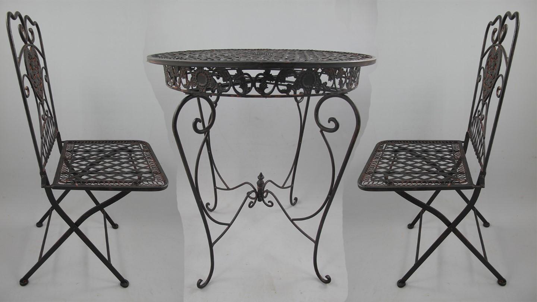 nt 2xstuhl tisch 66cm eisen rust braun set gartenm bel sets heim garten gremegro. Black Bedroom Furniture Sets. Home Design Ideas